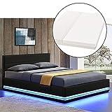 ArtLife LED Polsterbett Toulouse 180  200 cm mit Matratze, Lattenrost & Bettkasten - Kunstleder...