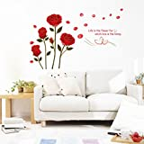 Clest F&H Wandsticker 'Rose Life is the flower for which love is the Honey', entfernbares Wandbild...