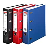 Doppelordner 3er Pack farbig sortiert maX.file protect A4 rot schwarz blau 7cm 2xA5quer Ablage...