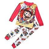 Heißer Cartoon Super Mario Baby Kinder Mädchen Jungen Freizeit Kleidung Sets Nachtwäsche...