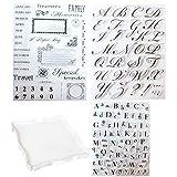 Yeelua 4 Stück Alphabet Kuchen Stempel Werkzeug, Alphabet & Zahlen Fondant Kuchen Form, DIY Keks...