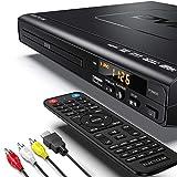 DVD Player, ELECTCOM HD DVD Player, CD Player (1080p Upscaling, HDMI Kabel-0.91m, USB-Eingang,...