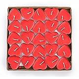 Binnan 50 Stücke Herzform Teelichter Set,Rauchfreie Herzform Kerzen Romantische...