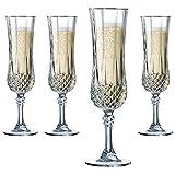 Cristal dArques, Longchamp Sektkelch 140ml, ohne Fllstrich, 6 Stck