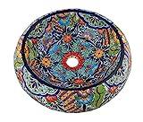 Mexikanisches Talavera runder Behälter Spüle Donut Keramik Handarbeit Deko 205