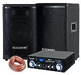 McGrey PA Komplettset DJ Anlage PowerDJ-1500 (System mit Partyboxen, Lautsprecher, 2 x 400 Watt,...