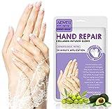 Feuchtigkeitsspendende Handschuhe, (4 Paar) Handmaske, für die Handpflege Pflegende Regenerierende...