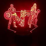 vhidfsjgdsfik Licht-3D für buntes Nachtlicht des Wassertropfen-LED des Ventilators