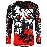 Broken Head MX Jersey Strike Back Rot - Langarm Funktions-Shirt Für Moto-Cross, BMX, Mountain Bike,...