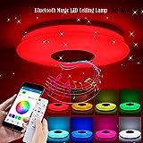 ALLOMN LED Deckenleuchte, Smart Bluetooth Musik Deckenleuchte Dimmbar RGBW Farbwechsel Licht mit...