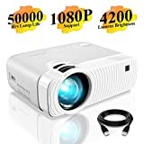 """Mini Beamer, ELEPHAS 4200 Lumen Tragbarer LED Projektor, unterstützt 1080P, Max 180 """"Display,..."""