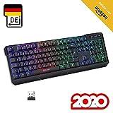 KLIM Chroma Wireless Gaming Tastatur Kabellos QWERTZ DEUTSCH + Langlebig, Ergonomisch, Wasserdicht,...