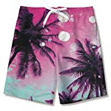 Fanient Jungen Swim Trunks Boardshorts 3D Grafik Hawaii Styles Badeanzug Beach Shorts für Teen...