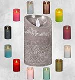 LED Echtwachskerze Kerze viele Farben mit Timer flackender Docht Wachskerze Kerzen Batterie,...