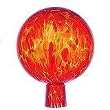 Marolin Rosenkugel für den Garten/Gartenkugel (15cm Durchmesser | orange)