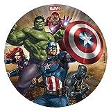 Dekora 231365 Marvel Avengers Tortenaufleger aus zuckerfreiem Esspapier-16 cm