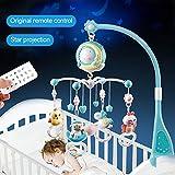Babybett Crib Mobile mit Lichtern und Musik, Fernbedienung Musical Crib Mobile mit Projektor,...