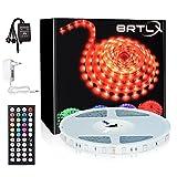 RGB LED Streifen 20m, BRTLX 2x32.8Ft RGB SMD 5050 LED Strip Lichtband Selbstklebend, Farbwechsel Led...