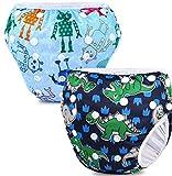 PHOGARY Baby Schwimmwindel für Baby (0-3 Jahre babysachen), 2STK. Baby Badehose wiederverwendbarer...