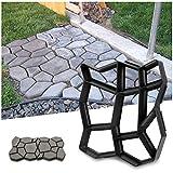YAOBLUESEA Gehweg Form Betonform von Gehwegen Schalungsform Gießform Plastikformen für Beton...