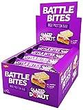 Battle Bites High Protein Riegel 12 x 62g Low Carb Protein Riegel - glasierter Streusel Donut