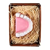 Lustapotheke® handgemachte Seife in Form eines Gebisses mit Geschenkverpackung