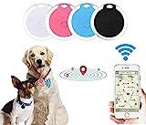 Alueeu Haustier Mini GPS Tracker für Hund Katzen, Wasserdichter Anti Verloren Echtzeit Bluetooth...
