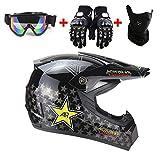 Zozmy Motorrad Helm Motocross Helme Erwachsene Unisex Kinder City Helme BMX Helme Motorrad...