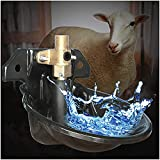WSVULLD Ziegenfloat Trinker Trinker Trinker - Automatische Schafe Wasserschale - Vieh Wasserspender...