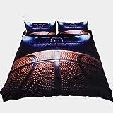 Zooseso® Creative Sports Fußball-Bettwäsche, 3D-Bettwäsche für Jungen, Teenager, Kinder,...
