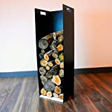 102cm hoch modernes Brennholz Unterstand Halter für Holzofen Kamin Holz Halter–in...