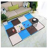 WHAIYAO Puzzlematte Zuhause Baby-Krabbeldecke Dekorativer Boden Zweifarbige Nähte Sicherheit...
