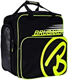 Brubaker Super Champion Skischuhtasche Helmtasche Rucksack mit Schuhfach - Schwarz/Neon Gelb