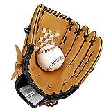 SKL Baseball Handschuhe PU Baseball Glove Batting Handschuhe mit einem Ball Softball Handschuhe für...