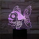 Fußball Lampe Nachtlicht Goldfisch 3D Led Nachtlicht Baby Schlaflicht Farbwechsel Dekoration Home...