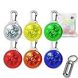O³ Leuchtanhänger // 6 Stück // Verschiedene Farben // Sicherheitsclip mit 3 Leuchtmodi //...