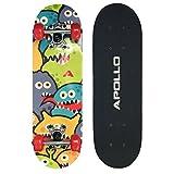 Apollo Kinder Skateboard, kleines Komplett Board mit ABEC 3 Kugellagern und Aluminium Achsen -...