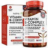 Vitamin B-Komplex mit Vitamin B12 und D3-365 vegetarische Tabletten in einer 12-monatigen Versorgung...