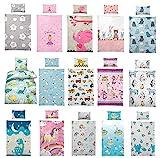 Kinder Bettwäsche 100 x 135 cm + Kissen 40 x 60 cm 100% Baumwolle Kinderbettwäsche,...