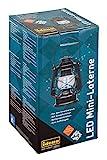 Idena 30134 - Retro Design llampe, LED Mini Laterne mit 12 sehr hellen LED, Dimmfunktion, Batterie...