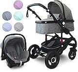 VCM Kombi - Kinderwagen, Babywagen 2in1 oder 3in1'VCK Kidax' 2in1 - ohne Babyschale: Marine