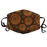 sddsd Mundmaske,Tribal Stylized Sun Ornament Washable and Reusable Cleaning Mask, Polyester Face...