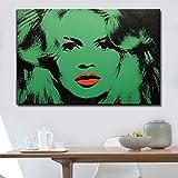 Berhmte lgemlde Portrt Farbplakat und drucken grne Frau Wandkunst Bild fr Wohnzimmer Home Dekoration...