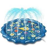 Splash Pad, 170cm Sprinkler Play Matte, Wasserspielzeug Spielmatte Sommer Wasser Spielzeug...