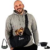 dainz® Hunde-Tragetasche/Hundetasche für kleine Hunde & Katzen bis maximal 3kg inkl. Anschnallgurt...