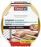 tesa Verlegeband extra stark klebend - Doppelseitiges Klebeband zum Verlegen von Teppich und...