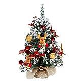 FCHJJ Künstlicher Weihnachtsbaum Beflockung Mini Weihnachtsbaum Dekoration PVC-Umweltschutz...