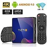 TICTID Android TV Box R8 Plus [4G+64G] Smart TV Box mit RK3318 Quad-Core unterstützt 4K/ 100M...