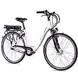 CHRISSON 28 Zoll E-Bike Trekking und City Bike für Damen - E-Lady weiß mit 7 Gang Shimano Nexus...