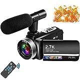 "Videokamera 2.7K Camcorder mit Mikrofon 30MP Vlogging Kamera mit drehbarem 3.0 ""Touchscreen..."